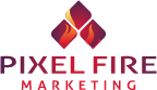 logo for pixel fire marketing